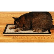 <strong>Square Cat Habitat</strong> Lo Floor Wood Cat Scratcher