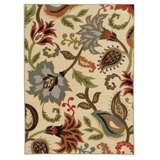 Clarissa Ivory / Multi Floral Rug