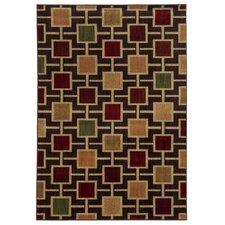 Lenoir Brown / Beige Geometric Rug