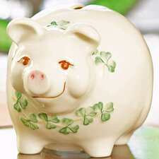 <strong>Belleek</strong> Piggy Bank Figurine