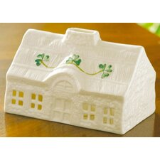 Thatched Cottage Votive Figurine