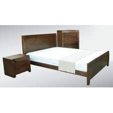 Milan 4 Piece Tallboy Bedroom Suite in Tassie Oak