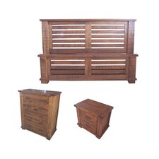 Rustic 4 Piece Tallboy Bedroom Suite