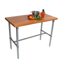 Cucina Americana Classico Prep Table with Wood Top