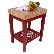 <strong>John Boos</strong> American Heritage Chef's Block Prep Table with Butcher Block Top
