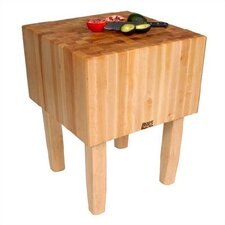 BoosBlock AA Professional Prep Table with Butcher Block Top