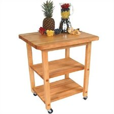 BoosBlock Appliance Center Kitchen Cart with Butcher Block Top