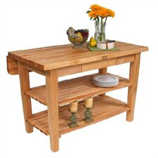 <strong>John Boos</strong> BoosBlock Kitchen Island with Butcher Block Top