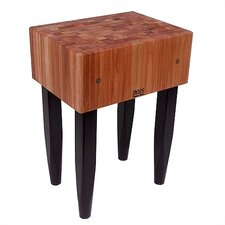 Rouge et Noir Le Bloc Prep Table with Butcher Block Top