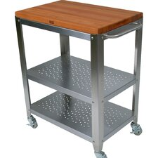 Cucina Americana Culinarte Kitchen Cart with Wood Top