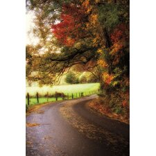 Autumn Drive Canvas Art