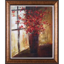 Vase of Red Flowers Framed Artwork