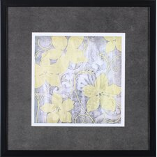 Yellow and Gray I by Jennifer Goldberger Framed Painting Print