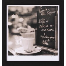 Café Champs-Élysées, Café St. Germain des Pres, Caffe Firenze and Caffe Lucca Framed Photographic Print