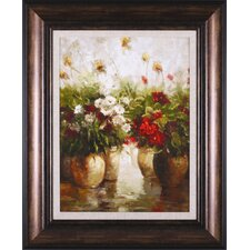 Red White and Gold by Ian Cook Framed Painting Print