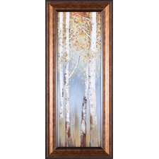 Butterscotch Birch Trees I by Allison Pearce Framed Painting Print