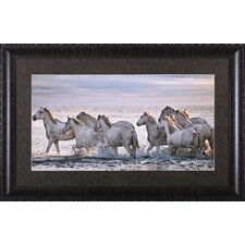 <strong>Art Effects</strong> Running Horses Framed Artwork