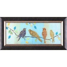 'Bird Chat I' by Tava Studios Framed Painting Print
