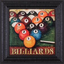 Billiards by Mollie B. Framed Vintage Advertisement