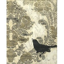 Damask Songbird I by June Erica Vess Graphic Art on Canvas