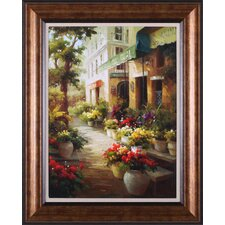 Entrance to Hotel Du Quai by Calvin Stephens Framed Painting Print