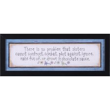 Sisters, Pray, Me or The House, Her Storm and Miracle by Jo Moulton Framed Textual Art