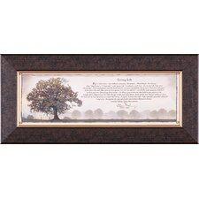 Living Life Petite by Bonnie Mohr Framed Textual Art