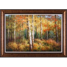 Aspen Woods by Robert Barnes Framed Painting Print