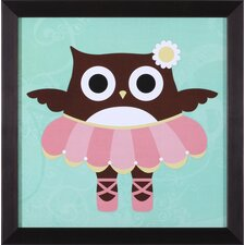Ballerina Owl Wall Art