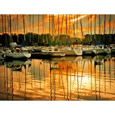 Marina Sunrise I by Danny Head Photographic Print on Canvas