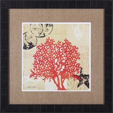 Coral Impressions IV by Tandi Venter Framed Graphic Art