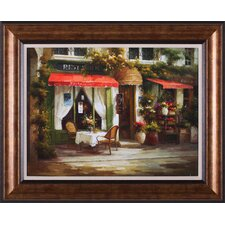 Restaurant Au Bon Quartier by Calvin Stephens Framed Painting Print