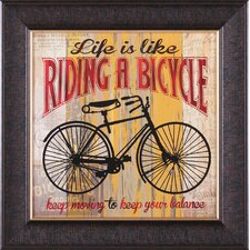 Life Is Like Riding a Bicycle by Maria Donovan Framed Vintage Advertisement