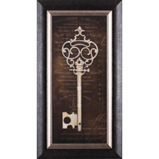 Antique Key II by Stephanie Marrott Framed Graphic Art