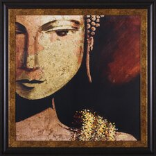 Golden Buddha by JC Pino Framed Painting Print