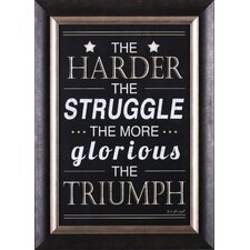 <strong>Art Effects</strong> The Harder, The Struggle Wall Art