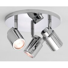 Como Circular 3 Light Ceiling Spotlight