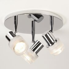 Tokai Round Base 3 Light Ceiling Spotlight