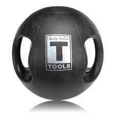 18 lbs Dual Grip Medicine Balls in Black