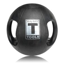 8 lbs Dual Grip Medicine Balls in Black