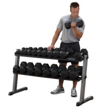 <strong>Body Solid</strong> 2 Tier Horizontal Dumbbell Rack