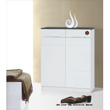 2 Door Shoe Cabinet in Black / White