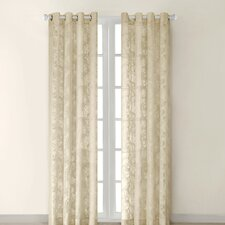 Figaro Silk Grommet Window Curtain Single Panel