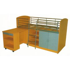 Combo Single Study Bunk Bed