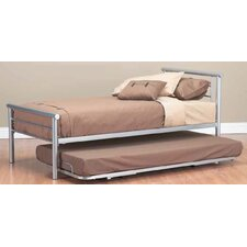 Jensen Single Bed with Trundle in Silver