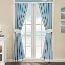 Coastline Cotton Rod Pocket Curtain Panel Pair (Set of 2)