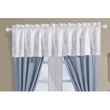 Crystal Beach Cotton Rod Pocket Tailored Curtain Valance
