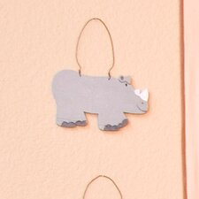 On Safari Rhino Hanging Art