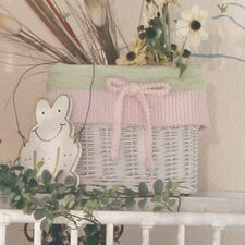 Froggy Pink Wicker Basket