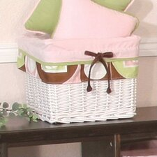 Modern Baby Girl Caffe Wicker Basket